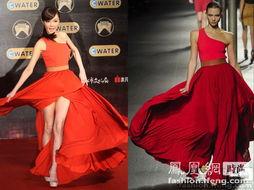 ...这位台语唱片界的年轻歌后本次选择Lanvin春夏红裙走上红毯.独特...