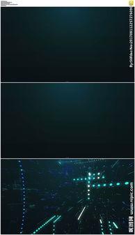 蓝色科技粒子穿梭背景视频