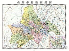 成都市地图 行政区划图