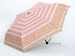 台湾彩虹屋 晴雨伞遮阳伞太阳伞超强防紫外线降温伞 蝴蝶结小花