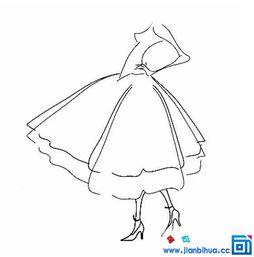 公主的裙子简笔画