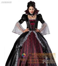巫僵-鬼节服装 女吸血鬼僵尸服 万圣节女巫服 化妆舞