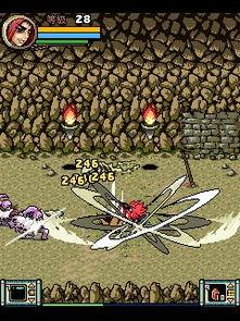 唤魔小邪帝-按品牌下载   诺基亚   游戏截图   画面属于漫画的风格.人物造型比较小...