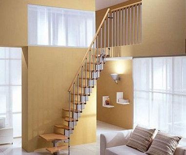 节省空间装修效果图:迷你型的楼梯结构非常紧实,即使没有足够的...
