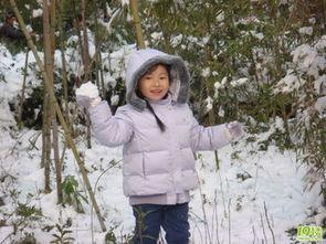 雪地里的杭州小姑娘