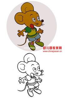 ...照动物涂色卡 小老鼠教案课件下载 涂色卡 幼儿园手工技能教案 儿歌...