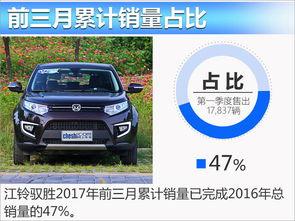 江铃驭胜前3月销量涨446 达去年近五成