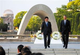 ...马访问广岛,和日本首相一起向广岛和平纪念公园献花圈. 图/视觉中...
