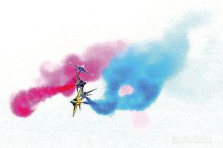 ...飞行 飞机空中放烟花的秘密