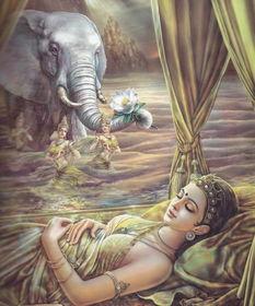 仙人占相:佛陀的父亲请来了著名的大仙人来为佛陀占相,仙人看后告...