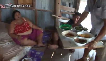 ...的泰国村庄 瘦女人嫁不出去