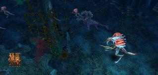 暗煞洪门空白的森林-先祖墓地   威武的守卫石像 庄严而肃穆   游戏以3D方式呈现出暗黑阴暗...