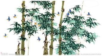 竹子水彩画 图片
