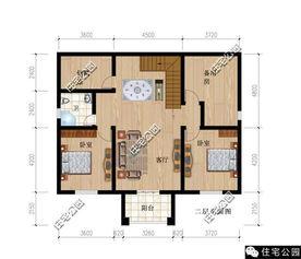农村小户型别墅设计图】60-90平方米,两层,二层半或三...我就知道...