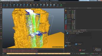 瀑布特效3d模型含realflow工程文件设计图下载 245.06MB 游戏动漫库 ...