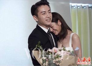 陈晓陈妍希合体拍婚纱大片 拥抱对视甜得掉牙