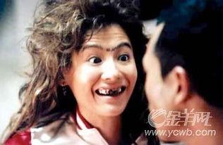 在由王晶执导的香港爱情影片《求爱上上签》中,张柏芝自毁形象,...