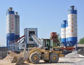 工程机械,90混凝土搅拌站,搅拌机,水泥仓相关图片 -河北双星HZS...