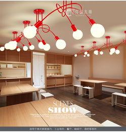 ...约卧室客厅餐厅韩式灯具服装店灯具吸吊两用灯