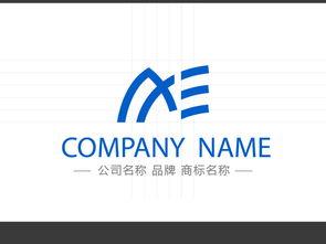 AE字母LOGO标志设计