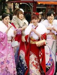 ...日本成人礼上的女生