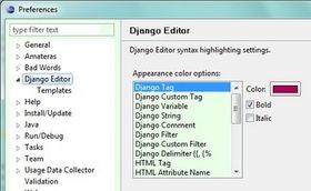 Django Editor首页 文档和下载 Eclipse插件