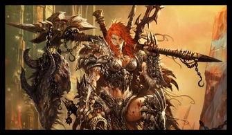 暗黑破坏神3女性野蛮人原画欣赏