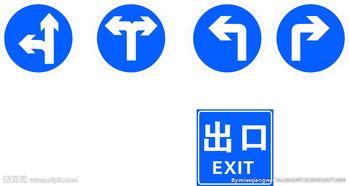 交通指示标志图片
