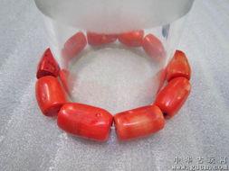纯天然大颗粒橘红珊瑚手链1 漂亮大气,男女可戴