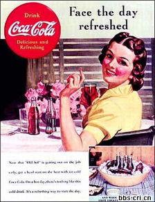 经典的可口可乐老广告图片