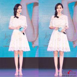 ...穿白色太单调 Angelababy白裙穿出清新感