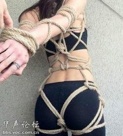 ...勒颈式绑图片 自缚绑法图解