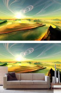 梦幻时空之门油画背景墙图片设计素材 高清模板下载 8.44MB 油画 立...