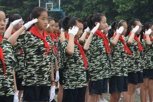 开学典礼 帅气 小军人 展示军训成长