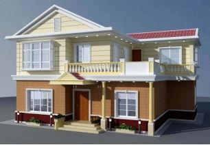 ...米农村带壁炉的二层别墅设计建筑图带外观18.9米 12.36米