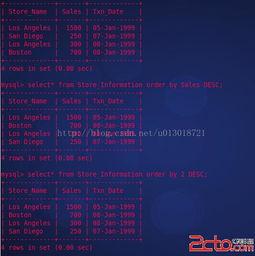 linux之SQL语句简明教程 ORDERBY
