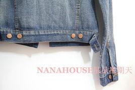 ...正版2013秋新款女装韩版长袖修身破洞牛仔上衣短款夹克小外套