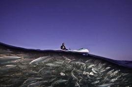 在水平面上的轮舞曲-分割摄影 海平面上下不同的迷人风情