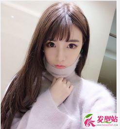 韩式空气刘海中长发 让你化身为韩系女神