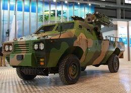 中国车载弹炮合一超低空防空系统亮相航展