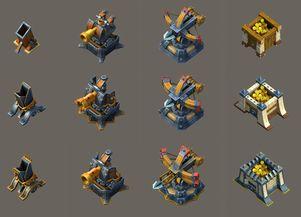 游戏建筑素材coc-游戏建筑素材