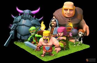 coc超清人物图和主题歌分享 部落冲突Clash of Clans