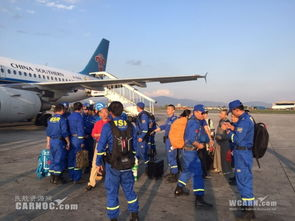 ...旋了3个小时的CZ6067航班终于落地加德满都机场.劳建昌、马旭辉...
