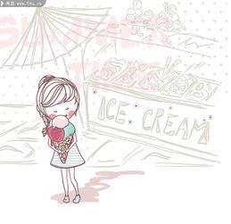 图片素材描述: 儿童绘画 卡通女孩 人物绘画 夏日素材 简笔画 简约 ...-...
