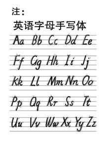 26个英文字母大小写怎样占格