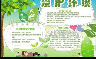 保护环境手抄报爱护环境小报图片下载psd素材 保护环境手抄报