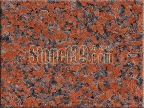 ...浪花 枫叶红 三堡红花岗岩石材图