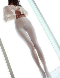 白色丝袜连裤袜 白色连裤袜舞蹈 白色丝袜 白色袜子连裤袜