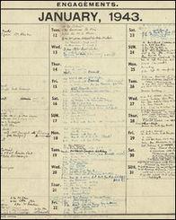 日志详细记录了英国战时首相丘吉尔的日常活动安排-丘吉尔部分私人...