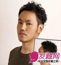 最IN潮男斜刘海发型图片 刘海修颜更帅气 6 男士短发发型 发藏网